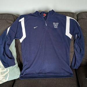 Nike Villanova quarter zip fleece! Navy & white L